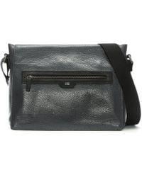 Class Roberto Cavalli - Empire Grey Leather Messenger Bag - Lyst