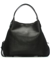 COACH - Edie 42 Black Leather Shoulder Bag - Lyst