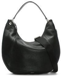 DKNY - Tompson Black Pebbled Leather Hobo Bag - Lyst
