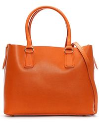 Daniel - Member Orange Leather Tote Bag - Lyst