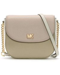 Michael Kors - Mott Half Dome Nude Leather Colour Block Cross-body Bag - Lyst