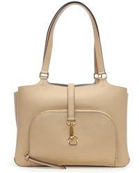 DKNY - Paris Pebbled Eggnog Leather Tote Bag - Lyst