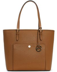 Michael Kors - Jet Set Large Acorn Leather Tote Bag - Lyst