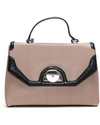 Class Roberto Cavalli - Coco Pink Leather Day Bag - Lyst