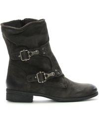 Daniel - Manta Grey Leather Biker Boots - Lyst