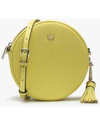 Michael Kors - Canteen Sunshine Leather Circular Cross-body Bag - Lyst