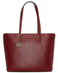 DKNY - Olive Saffiano Scarlet Leather Large Tote Bag - Lyst