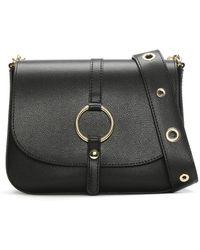Daniel - Map Black Leather Saddle Bag - Lyst