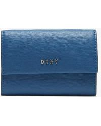 DKNY - Small Summer Blue Leather Card Case - Lyst