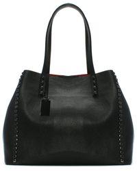 Daniel - Mooch Black Tumbled Leather Studded Tote Bag - Lyst
