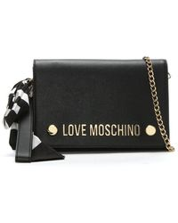Love Moschino - Cecily Black Logo Clutch Bag - Lyst