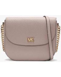 e5200dbaa770 Michael Kors - Mott Half Dome Ultra Pink Leather Cross-body Bag - Lyst
