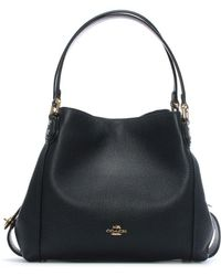 COACH - Edie 31 Navy Pebbled Leather Shoulder Bag - Lyst