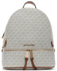 Michael Kors - Rhea Vanilla Logo Zip Fastening Backpack - Lyst