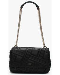 DKNY - Large Allen Black Leather Quilted Shoulder Bag - Lyst