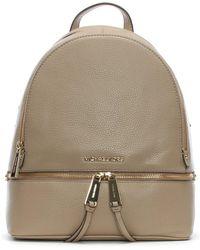 Michael Kors - Rhea Truffle Leather Zip Fastening Backpack - Lyst