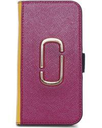 Marc Jacobs - Snapshot Magenta Multi Cross Grain Leather Iphone 7/8 Case - Lyst