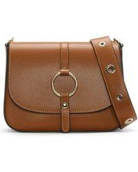 Daniel - Map Tan Leather Saddle Bag - Lyst