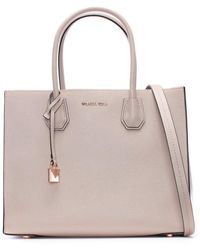 Michael Kors - Mercer Fawn Leather Large Satchel Tote Bag - Lyst