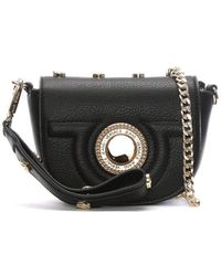 a852572d74be Versace Jeans - Emily Black Studded Mini Cross-body Bag - Lyst