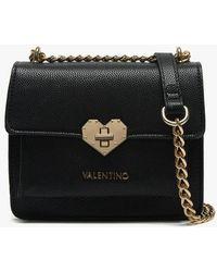 Valentino By Mario Valentino - Small Amelie Black Heart Clasp Cross-body Bag - Lyst