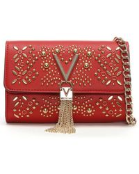 Valentino By Mario Valentino - Marilyn Red Stud Embellished Cross-body Bag - Lyst