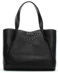Love Moschino - Bruno Black Shopper Tote Bag - Lyst
