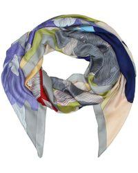 Daniel - Flowers Multicoloured Silk Scarf - Lyst