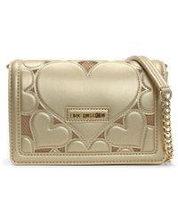 Love Moschino - Pinscher Gold Heart Cross-body Bag - Lyst