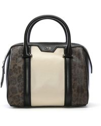Class Roberto Cavalli - Signature Collection Mini Multicoloured Leather Bowling Bag - Lyst