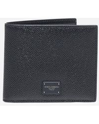 Dolce & Gabbana - Leather Wallet With Logo Plaque - Lyst