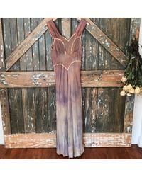 DANNIJO - Vintage Faded Silk Slip Dress - Lyst