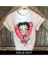 DANNIJO - Vintage Betty Boop Front And Back Tee - Lyst