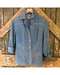 DANNIJO - Vintage Blue Studded Shirt Jacket - Lyst