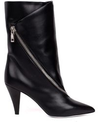 Givenchy - Zipped Leather Mid-boots - Lyst