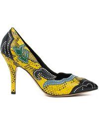 Isabel Marant - Pavine Studded Snake Effect Leather Court Shoes - Lyst