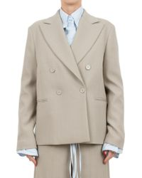MM6 by Maison Martin Margiela - Double-breasted Jacket - Lyst