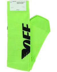 Off-White c/o Virgil Abloh - Neon Green Wings Logo Socks - Lyst
