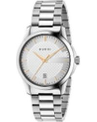 8f4dd6b81e7 Gucci G Timeless Collection Timepiece in Gray for Men - Lyst