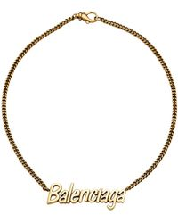 Balenciaga - Typo Necklace - Lyst