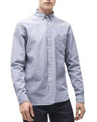 Lacoste - Reg Fit Oxford Shirt - Lyst