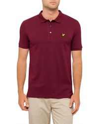 Lyle & Scott - Plain Polo Shirt - Lyst
