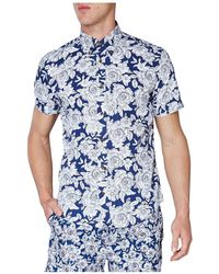 Ben Sherman - Outline Floral Print Mod Shirt - Lyst