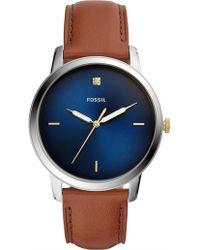 Fossil - The Minimalist Brown Watch - Lyst