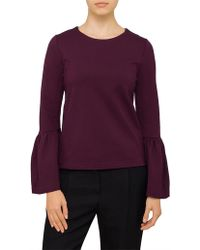 Ted Baker - Lolar Frilled Bell Sleeve Top - Lyst