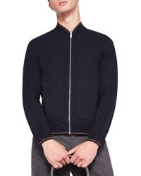 Ted Baker - Long Sleeve Textured Bomber - Lyst