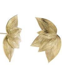 Meadowlark - 5 Leaves Stud Earrings - Lyst