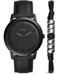 Fossil - The Minimalist Black Watch - Lyst