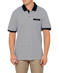 Ted Baker - Sloughi T Yardage Print Polo - Lyst