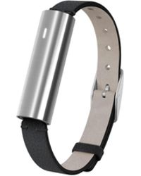 Misfit - Ray - Polished Stainless Steel/black Leather Band - Lyst